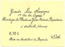 Etiket Etiquette - Grande Fine Champagne - 1° Cru Du Cognac - Madame Gaston Briand - Ambleville  0.70 L. - Labels