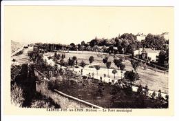 Sainte-FOY-LES-LYON: Le Parc Municipal, Carte Photo. Edit Cellard - France