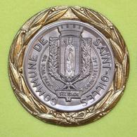 Médaille De La Commune De Saint-Gilles – Bruxelles - Bord Doré – Métal Et étain - Belgio