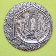 Médaille De La Commune De Saint-Gilles – Bruxelles - Bord Argenté – Métal Et étain - Belgio