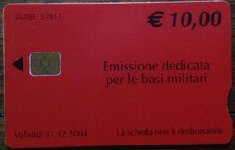 *4805 C&C US4 SCHEDA TELEFONICA USATA BASI MILITARI TELECOM 00081 - Italia