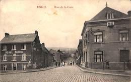 Engis - Rue De La Gare (animée, Hôtel Bodson, Café, Antwerpia Cycle Palace, Marco Marcovici) - Engis