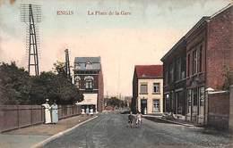 Engis - La Place De La Gare (belle Animation, Colorisée, Café, Marco Marcovici) - Engis