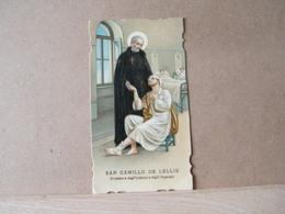MONDOSORPRESA, (ST234) SANTINO, SANTINI,  SAN CAMILLO DE LELLIS PRIMI 900 - Imágenes Religiosas