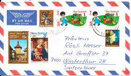 New Zealand Air Mail Cover Sent To Switzerland Matamata 18-12-1975 - Airmail