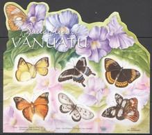 V1099 !!! SELF-ADHESIVE VANUATU FLORA FLOWERS BUTTERFLIES OF VANUATU 1KB MNH - Butterflies