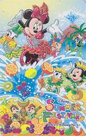 Télécarte NEUVE Japon - DISNEY SEA - SUMMER FESTIVAL - Mickey Minnie Donald Ecureuil - Japan MINT Free Teleca Phonecard - Disney