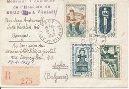 France Registered Cover Sent To Bulgaria 10-4-1962 - France