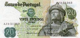 Belhete  20 Escudos 1971 Garcia Horta Republica Portuguesa - Portugal