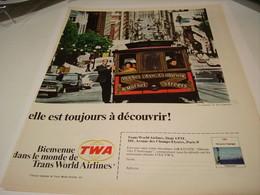 ANCIENNE PUBLICITE VOYAGE TWA CALIFORNIA  1963 - Advertisements