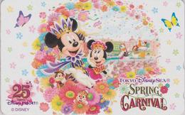 Télécarte NEUVE Japon - DISNEY SEA - SPRING CARNIVAL - Mickey Minnie - Japan MINT Free Teleca Phonecard - Disney