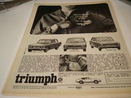 ANCIENNE PUBLICITE VOITURE TRIUMPH  BRITANNIQUES 1963 - Cars