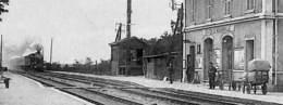 91 - Monnerville - La Gare Desservant Pussay (animée, Edit. Corpechot, Arrivée Du Train Vapeur 1929) - Sonstige Gemeinden