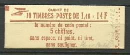 FRANCE: CARNET N° 2102C3,  Ouvert, Conf 4, VARIETE: 2 Tp Avec Infime Trace De Phospho, 1 Tp Av 1 Bande, TB - Markenheftchen