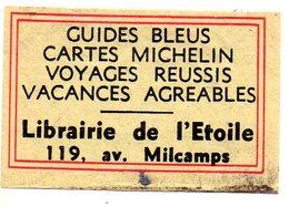 Librairie De L'Etoile Guides Bleus Cartes Michelin Voyages Vacances - Matchbox Labels