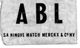 ABL Sa Ninove Match Merck Et Co - Matchbox Labels