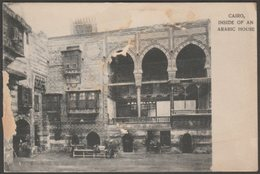 Inside Of An Arabic House, Cairo, C.1905 - U/B Postcard - Cairo