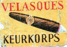 Velasques Keurkorps Cigare - Matchbox Labels