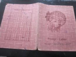 1944 Marseille Protege Cahier D'école D'écolier Illustration De La Chasse Dans Bois Chasse Avec Setter Chien - Animals