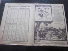 """1944 Marseille Protege Cahier école-écolier Illustration Reglisse CAR - Fable De La Fontaine""""Le Gland & La Citrouill - Animals"""