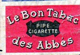 Le Bon Tabac Des Abbés Pipe Cigarette - Matchbox Labels