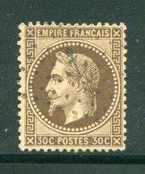 Y&T N°30- Ancre Noire - 1863-1870 Napoléon III Lauré