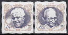 INDIA 2018 INDIA SOUTH AFRICA  2nd Joint Issue, Gandhi, Mandela, Set 2v, MNH(**) - India