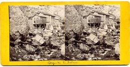 Photos  Stéréoscopiques - 38  Isère - Scierie De La Balme - Gorges De La Bourne - Stereoscopic
