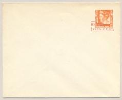 Nederlands Indië - 1937 - 10 Cent Op 12,5c Wilhelmina Type Kreisler, Envelop G56b / H&G43 - Ongebruikt - Nederlands-Indië