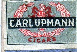 Carl Upmann Cigars - Matchbox Labels