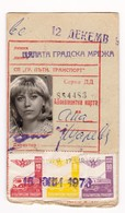 Transport Map For The Whole City Network - Sofia 1973 (carte D'abonnement ) Bulgaria/Bulgarie - Season Ticket