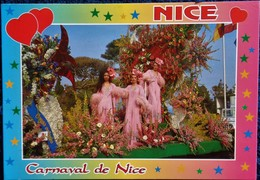 NICE - Carnaval, Bataille De Fleurs . - Mercati, Feste
