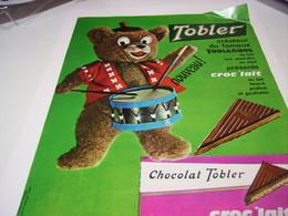 ANCIENNE PUBLICITE CHOCOLAT TOBLER CREATEUR DE TOBLERONE 1963 - Posters