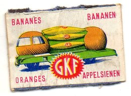 G K F Bananes Oranges Camion - Zündholzschachteletiketten