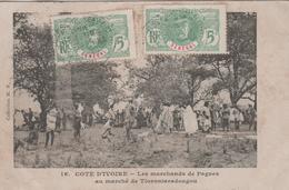 COTE D'IVOIRE  LES MARCHANDS DE PAGNES AU MARCHE DE TIORONIARADOUGOU - Ivory Coast