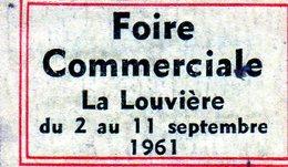 Foire Commerciale La Louvière 1961 - Matchbox Labels
