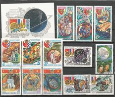 SSSR LOT OF SPACE STAMPS MNH - Briefmarken
