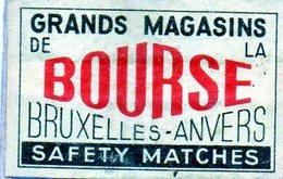 Grand Magasins De La Bourse Bruxelles Anvers - Matchbox Labels