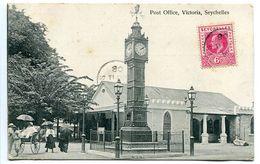 CPA 1908 - SEYCHELLES VICTORIA Post Office ( Animée ) Ecrite Voyagé 1908 - Seychellen