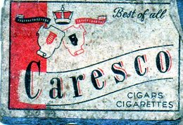 Caresco Cigares Cigarettes - Matchbox Labels
