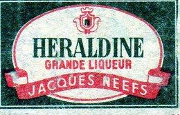 Heraldine Grande Liqueur Jacques Neefs - Matchbox Labels
