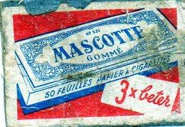 Mascotte Gommé Papier à Cigarettes - Matchbox Labels