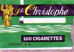 St Christophe Cigarettes - Matchbox Labels