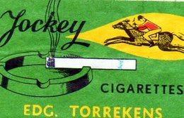 Jockey Cigarettes Torrekens Vert - Matchbox Labels