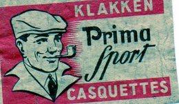 Casquettes Prima Sport - Matchbox Labels