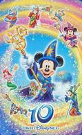 Télécarte NEUVE Japon - DISNEY SEA - 10th Anniversary - MICKEY MOUSE MERMAID SIRENE - Japan MINT Phonecard - Disney