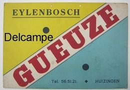 """Carton Affiche Publicitaire Bière """" Gueuze """" De La Brasserie """" Eylenbosch """" - Posters"""