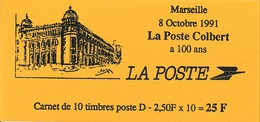 "1991 Carnet La Poste Colbert 10 Marianne De Briat ""D"" - Freimarke"