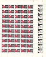 1980 SAUDI ARABIA Anti Smoking Campaign (WHO  Complete Full Sheets 50 Set 2 Values MNH - Saudi Arabia