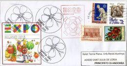 Exposition Universelle De 2015 à MILAN, Lettre Du Pavillon Des îles SAMOA, Avec Timbres Samoa Vendus Au Pavillon Samoa - 2015 – Milan (Italy)